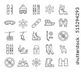 vector linear icons set of... | Shutterstock .eps vector #515294293