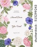 bouquet of flowers. wedding... | Shutterstock .eps vector #515299243