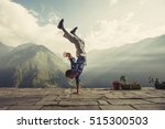 young sporty man doing... | Shutterstock . vector #515300503