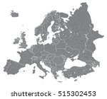 europe high detailed political... | Shutterstock .eps vector #515302453