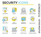security icons  thin line  flat ... | Shutterstock .eps vector #515303623