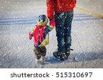 father teaching little daughter ... | Shutterstock . vector #515310697