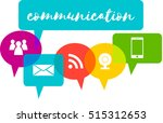 colorful speech bubbles with... | Shutterstock .eps vector #515312653