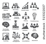 business management icons. pack ... | Shutterstock . vector #515322037