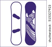 snowboard vector hand drawn...   Shutterstock .eps vector #515327923