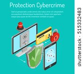 cyber crime and data protection ... | Shutterstock .eps vector #515332483
