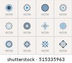 geometric logo template set.... | Shutterstock .eps vector #515335963