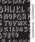 hand drawn doodle letters and... | Shutterstock .eps vector #515336443
