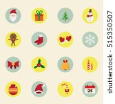 christmas design concept. icons ... | Shutterstock .eps vector #515350507