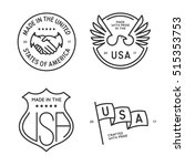 made in usa labels badges... | Shutterstock .eps vector #515353753
