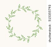 green wreath. vector isolated.... | Shutterstock .eps vector #515355793