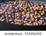 organic brown chestnuts... | Shutterstock . vector #515356333