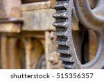 closeup of a vintage... | Shutterstock . vector #515356357