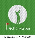 golf tournament invitation... | Shutterstock .eps vector #515366473