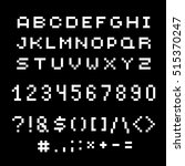 vector modern numbers  letters... | Shutterstock .eps vector #515370247