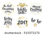 christmas holidays hand... | Shutterstock .eps vector #515372173