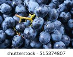 grape background. dark grape.... | Shutterstock . vector #515374807