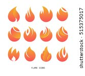 flame icons.fire logo set | Shutterstock .eps vector #515375017