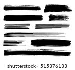collection of different black... | Shutterstock . vector #515376133