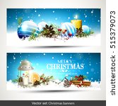 vector set of two christmas... | Shutterstock .eps vector #515379073