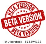 beta version stamp.  red round... | Shutterstock .eps vector #515394133