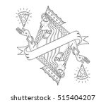 concept of a lady queen...   Shutterstock .eps vector #515404207