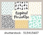tropical seamless patterns... | Shutterstock .eps vector #515415607