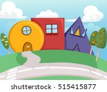 colorful illustration of quirky ... | Shutterstock .eps vector #515415877