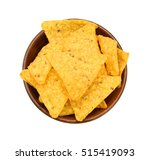 ttortilla chips isolated in... | Shutterstock . vector #515419093