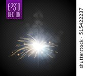 metal welding with sparks or... | Shutterstock .eps vector #515422237