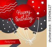 happy birthday card template... | Shutterstock .eps vector #515436127