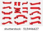 ribbon banner set.vector red... | Shutterstock .eps vector #515446627
