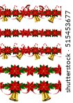 set of n seamless christmas... | Shutterstock .eps vector #515453677
