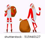 santa with bag of gifts. merry... | Shutterstock .eps vector #515460127