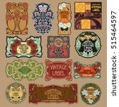 vector vintage items  label art ... | Shutterstock .eps vector #515464597