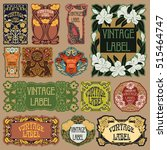 vector vintage items  label art ... | Shutterstock .eps vector #515464747