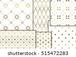 collection of golden seamless... | Shutterstock .eps vector #515472283