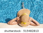top view of a woman in a hat... | Shutterstock . vector #515482813