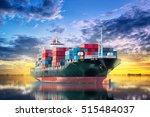 logistics and transportation of ... | Shutterstock . vector #515484037