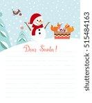 template for christmas letter... | Shutterstock .eps vector #515484163