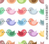 colorful little birds. seamless ... | Shutterstock .eps vector #515485387