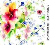 seamless wallpaper with wild... | Shutterstock . vector #515490877