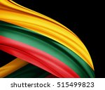 lithuania  flag of silk with... | Shutterstock . vector #515499823