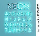realistic neon character... | Shutterstock .eps vector #515501773