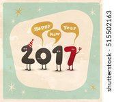 vintage style funny greeting... | Shutterstock .eps vector #515502163