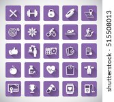 fitness icons set   set of... | Shutterstock .eps vector #515508013