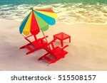 pair of sun loungers and a... | Shutterstock . vector #515508157