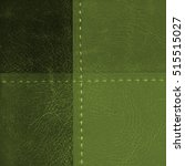 Green Leather Background Of...