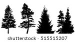 coniferous trees silhouettes on ... | Shutterstock .eps vector #515515207