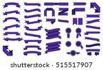 set of beautiful festive... | Shutterstock .eps vector #515517907